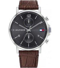 reloj tommy hilfiger 1710416 marrón cuero