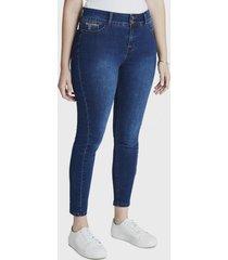 jeans pitillo 2 botones azul curvi