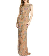 mac duggal beaded floral gown