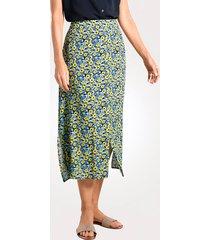 kjol mona marinblå::ljusblå::gul