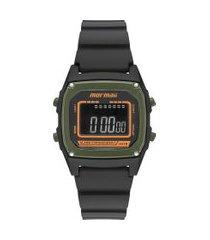 relógio digital mormaii masculino - mon28/8v preto