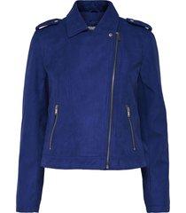 chaqueta jacqueline de yong azul - calce ajustado