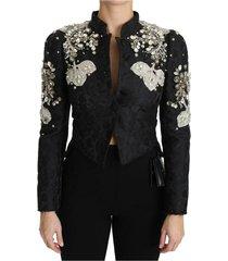 jacquard crystal floral jacket