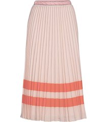 oc madeleine skirt knälång kjol rosa tommy hilfiger