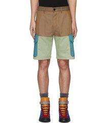 eye/loewe/nature paneled cargo shorts