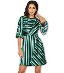 ax paris striped skater dress