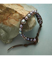 sundance catalog women's peacock pearl bracelet