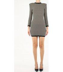 balmain short monogram dress