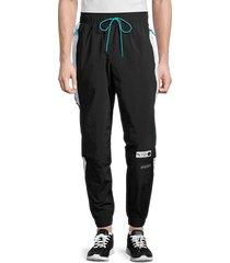 puma men's parquet woven track pants - black - size m