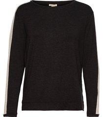t-shirts stickad tröja svart esprit casual