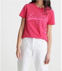 superdry vintage logo tonal embroidery t-shirt