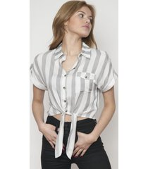 camisa cuello clasico y botones gris 609 seisceronueve