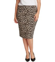 vince camuto plus size animal-print tube skirt