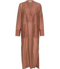 cirrilip maxiklänning festklänning brun by malene birger
