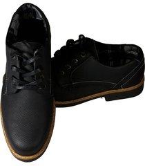 zapatos hombre botín botines cuero 100% negro calzado