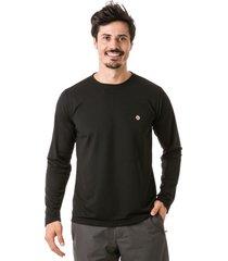 camiseta extreme uv dry com proteção solar - preta