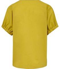 blouse 100% katoen splitten opzij van lanius groen