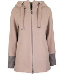herno hooded wool jacket