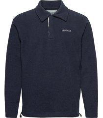 dallas fleece rugby sweatshirt sweat-shirts & hoodies fleeces & midlayers blauw les deux
