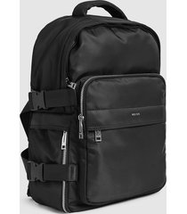 reiss harrison - nylon backpack in black, mens