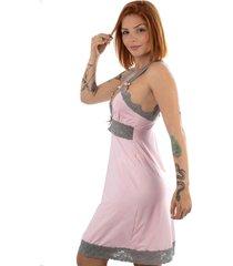camisola thais gusmã£o vintage renda amor rosa - rosa - feminino - dafiti