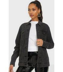 noisy may nmole l/s black denim jacket noos jeansjackor
