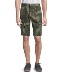 buffalo david bitton men's hilife botanical-print cargo shorts - green - size 33