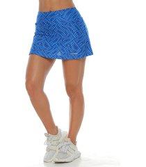 falda con licra interior, color azul rey para mujer