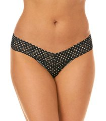 hanky panky women's low rise snowfall one size thong 2q1586