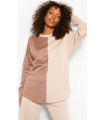zwangerschaps colour block sweater, ecru