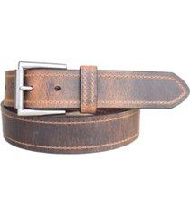 lejon men's tracker distressed crazy horse leather casual work jean belt