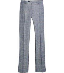 paisley & gray men's slim fit suit separates pants denim & red plaid - size: 29