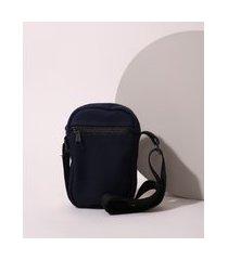 bolsa de sarja masculina shoulder bag azul marinho