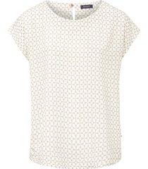 blouse met aangeknipte mouwen en ronde hals van basler multicolour