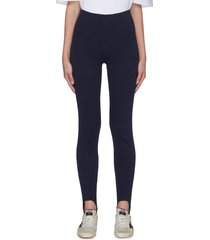centre pleat panelled organic cotton ski pants