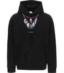 marcelo burlon double chain feathers hoodie