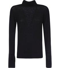jil sander classic turtleneck knit sweater