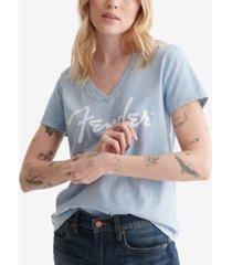 lucky brand cotton fender t-shirt