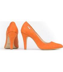 skórzane szpilki zapato 035 kolor dynia