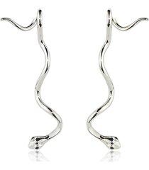 federica tosi designer earrings, long snake basic earrings