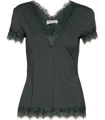 t-shirt ss blouses short-sleeved grön rosemunde