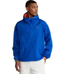 polo ralph lauren men's water-repellent popover jacket