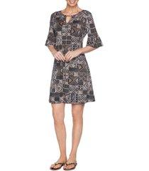 ruby rd. petite bead batik puff dress
