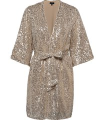 slflucille 3/4 sequins kimono b kimonos grijs selected femme