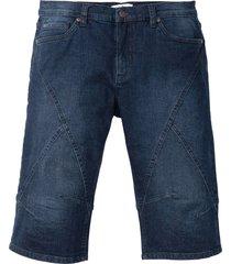 bermuda lunghi in jeans elasticizzato regular fit (nero) - john baner jeanswear