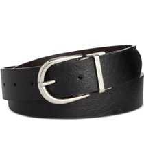 calvin klein reversible flat-strap leather belt