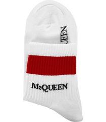alexander mcqueen stripe socks