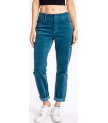 kancan women's high rise corduroy mom jeans