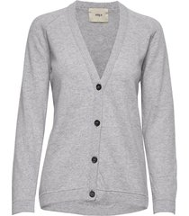 rorry stickad tröja cardigan grå stig p