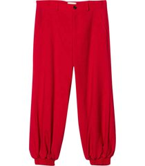 gucci red comfortable-cut trousers